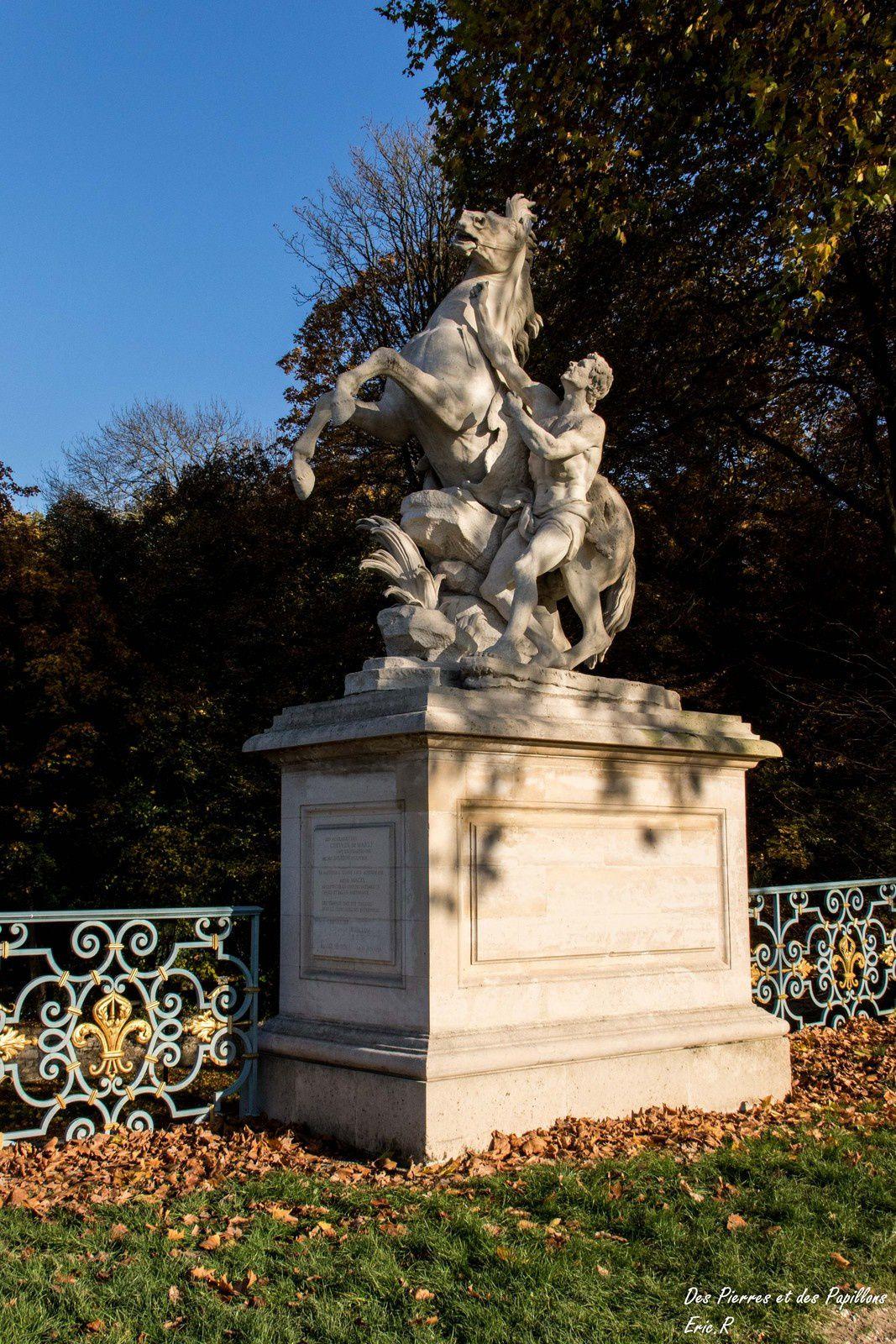 Le parc du château de Marly.