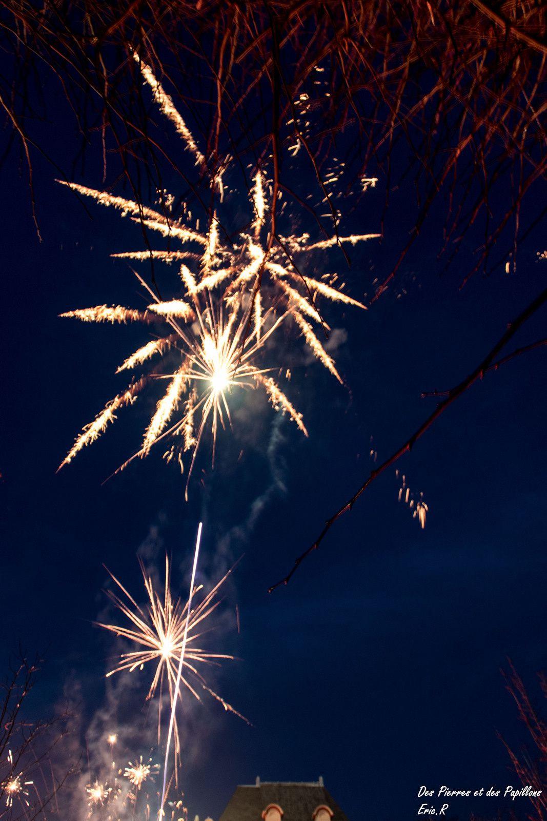 Le feu d'artifice au dessus du Castelrose