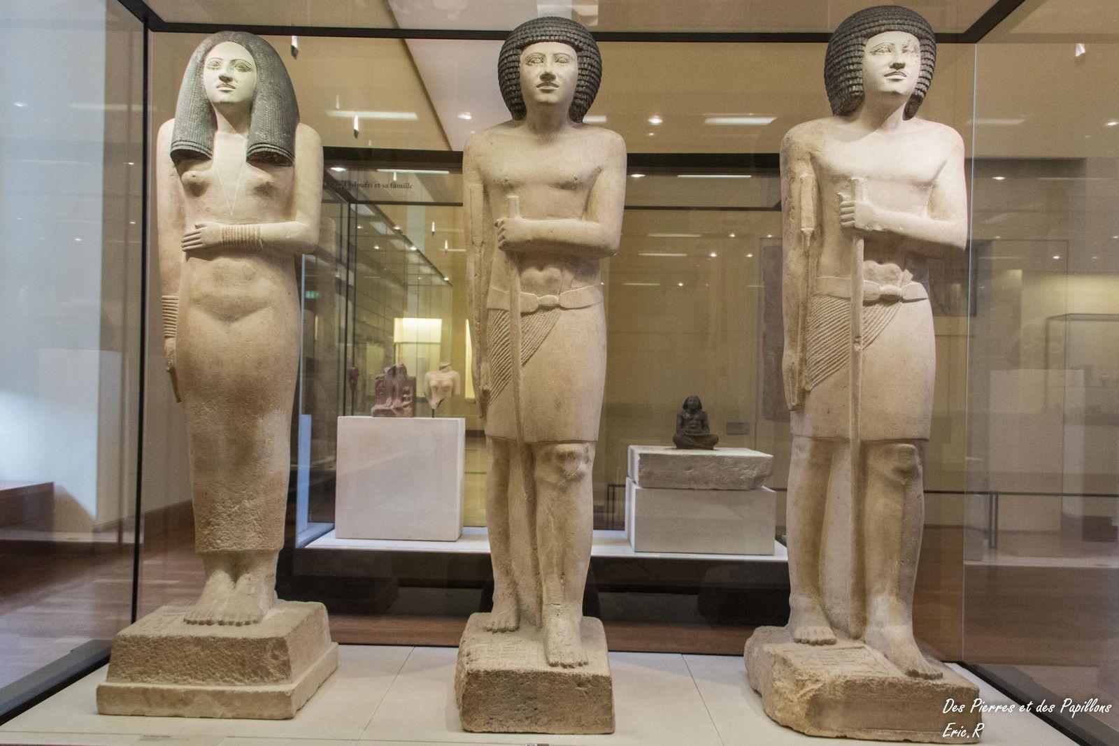 Statues de Sépa - calcaire peint - 2700/2620 av.JC