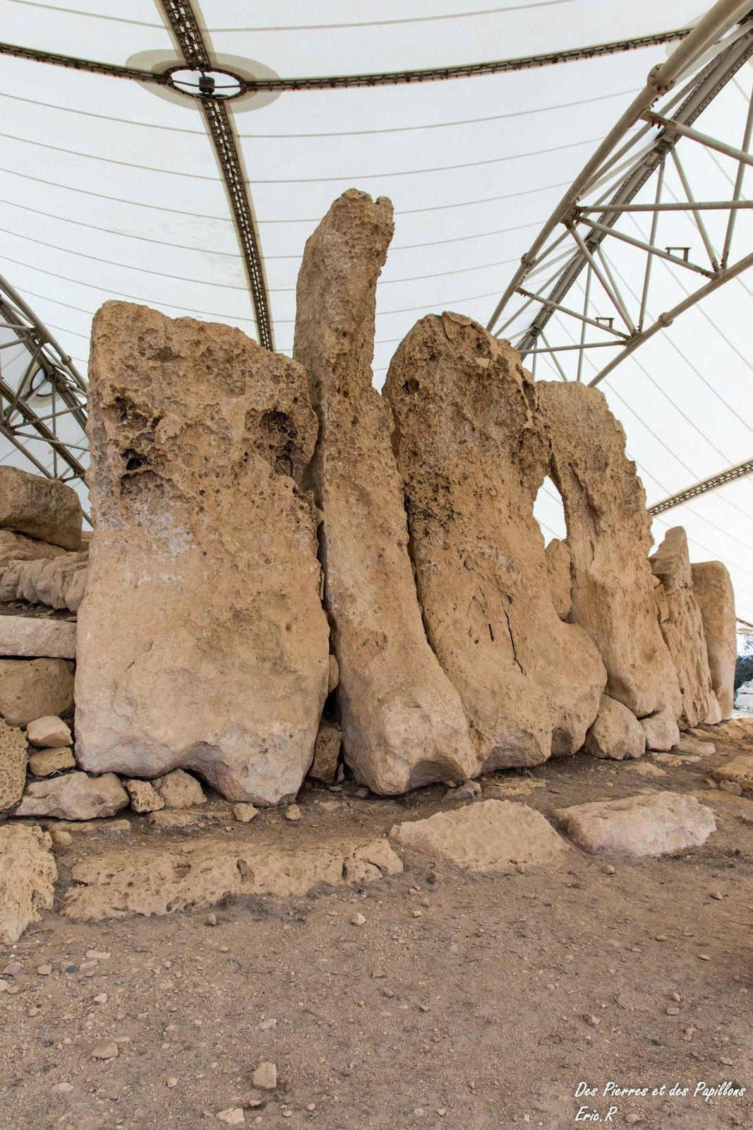 Quelques détails des temples Ħaġar Qim