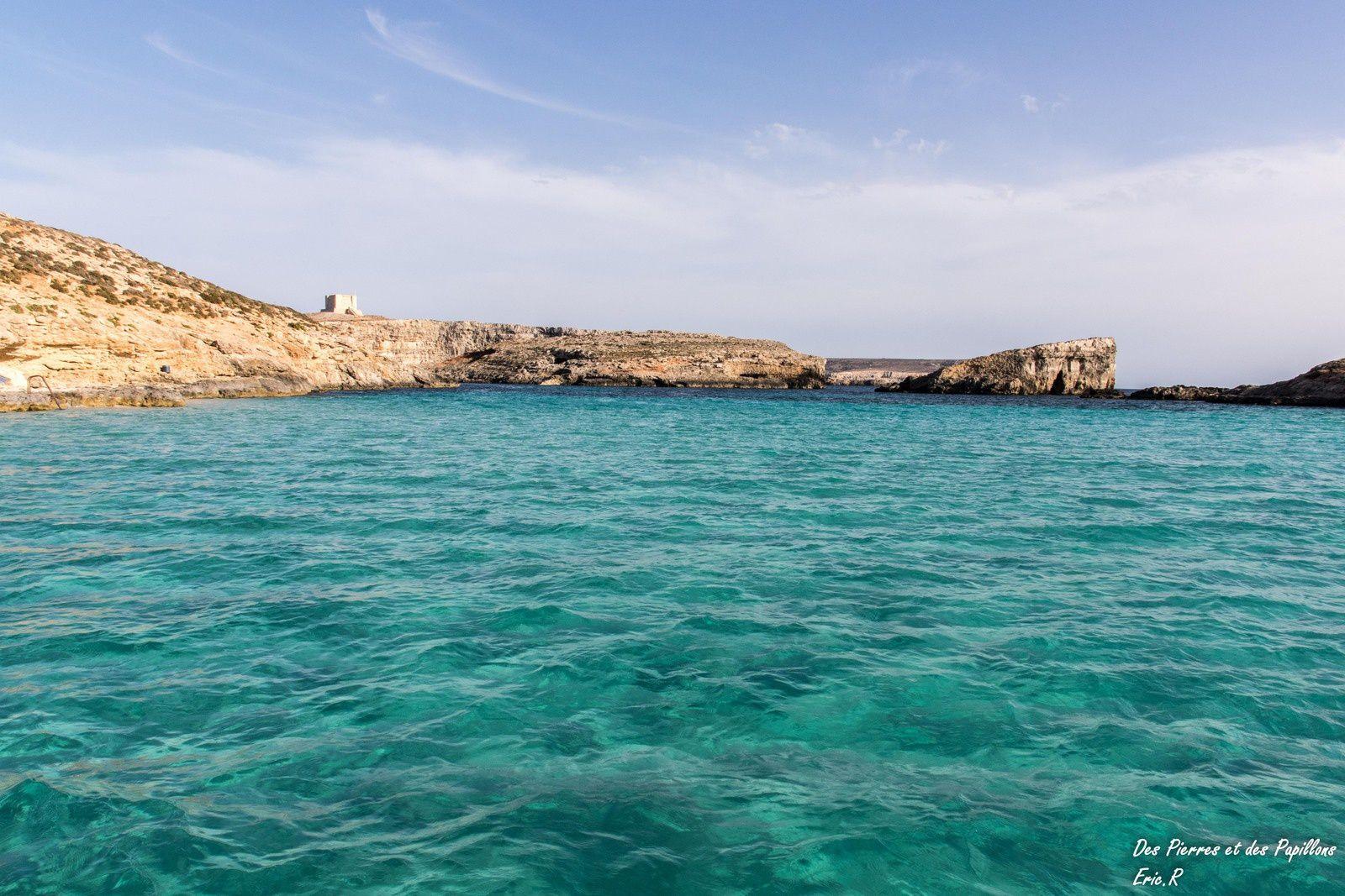 Les superbes couleurs du blue lagoon à Comino