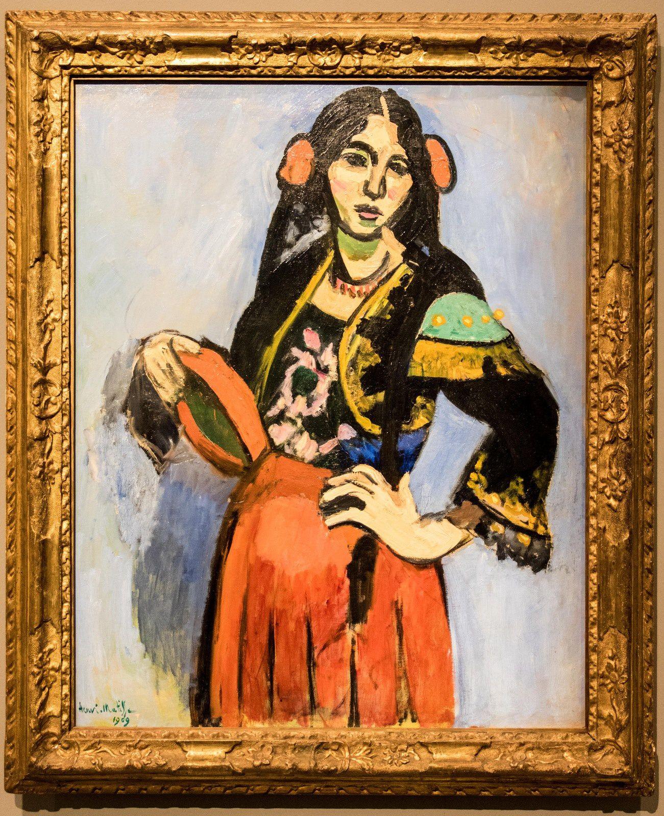 L'espagnole au tambourin - 1909
