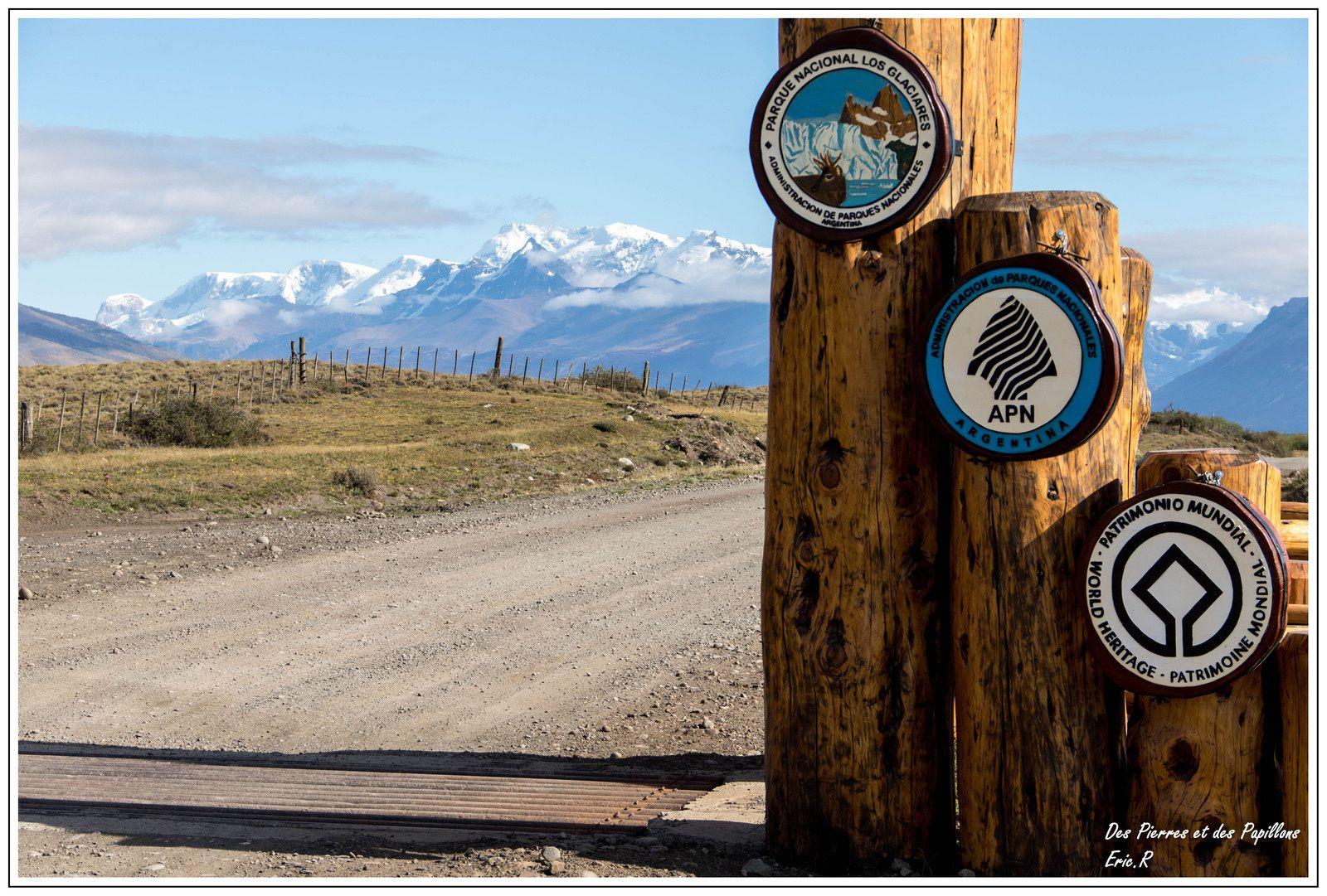 """Entrée du """"Parque National los Glaciares"""""""