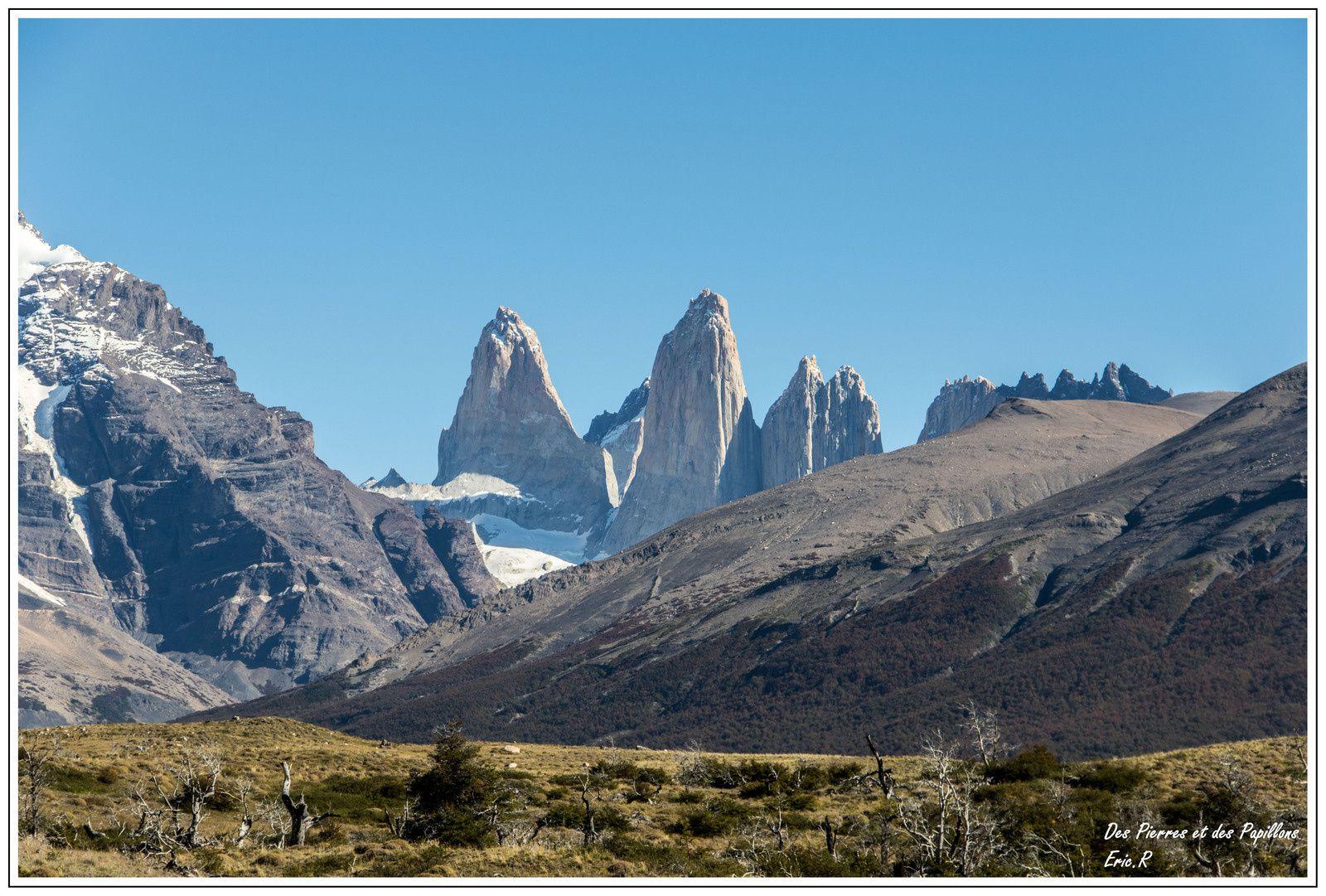 Cascade et Torres del Paine