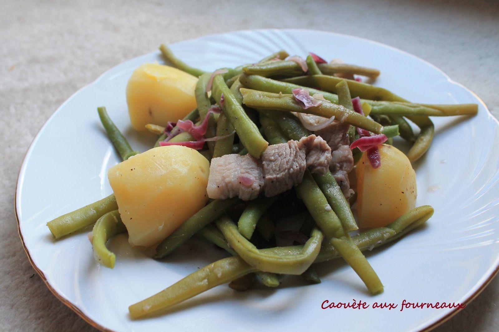 salade li geoise haricots pommes de terre caou te aux fourneaux. Black Bedroom Furniture Sets. Home Design Ideas