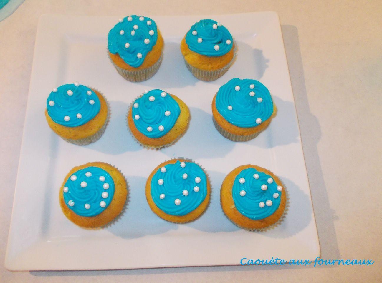 Cupcakes bleu turquoise pour un goûter régressif...