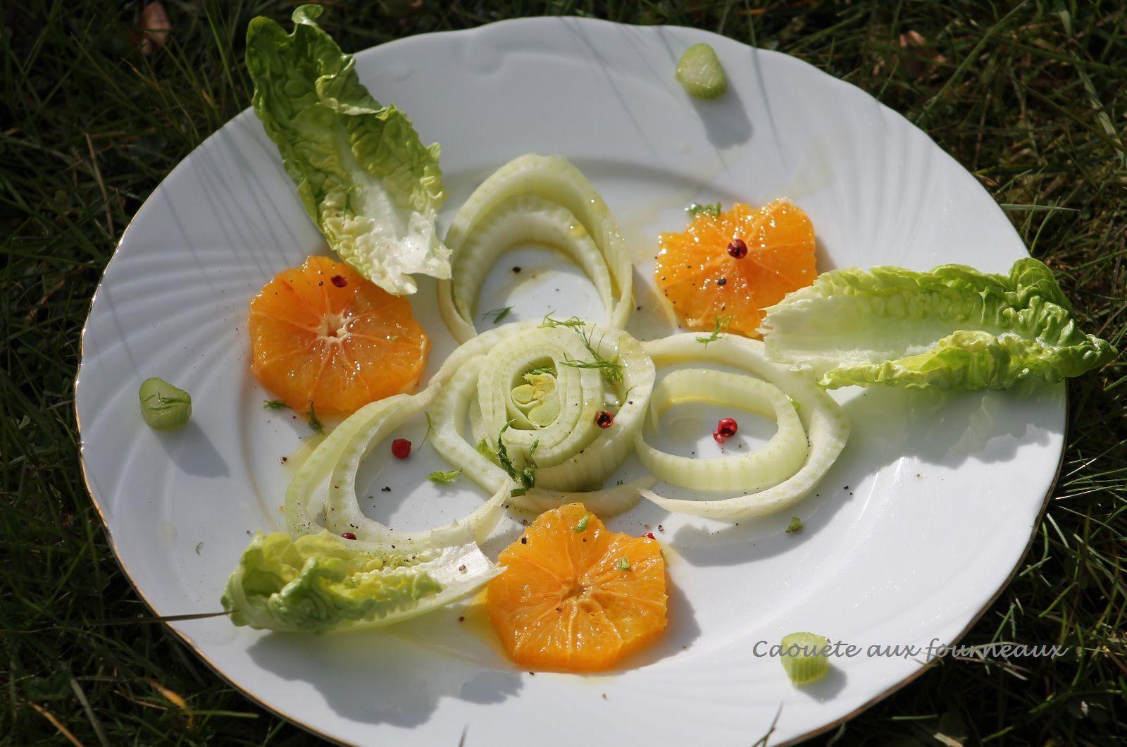 Salade printanière au fenouil et à l'orange