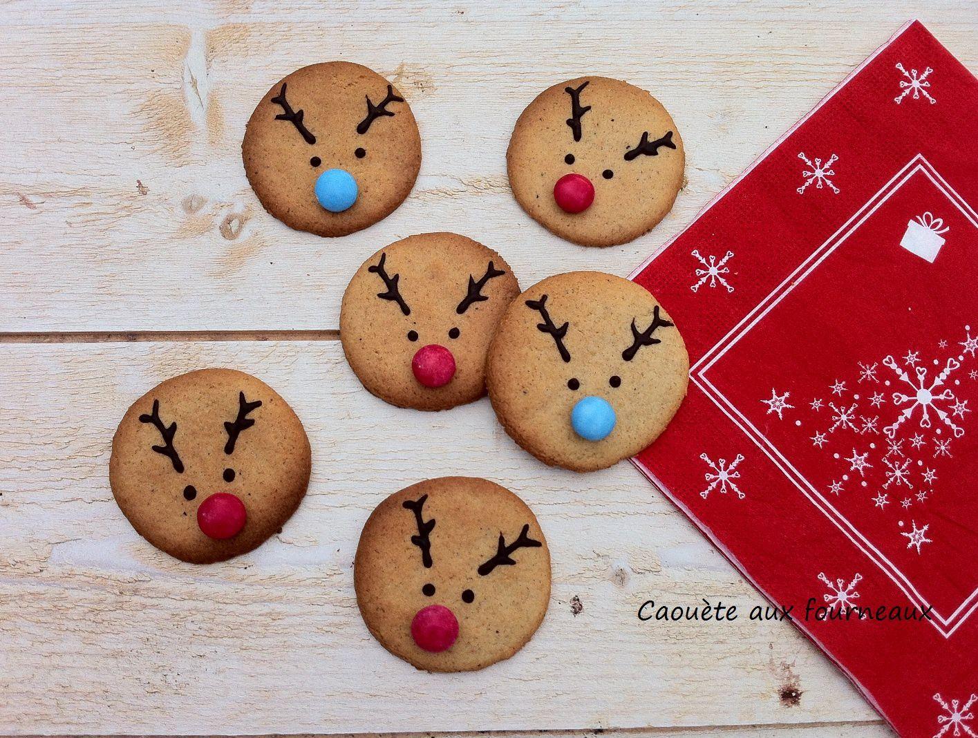 Sablés de Noël en forme de tête de renne