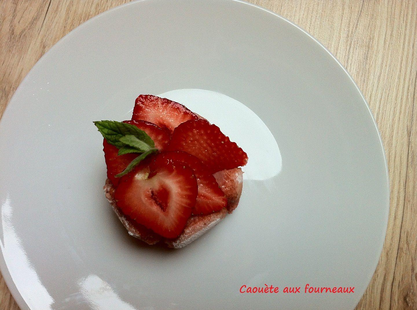 Mini charlottes aux fraises {sans lactose}