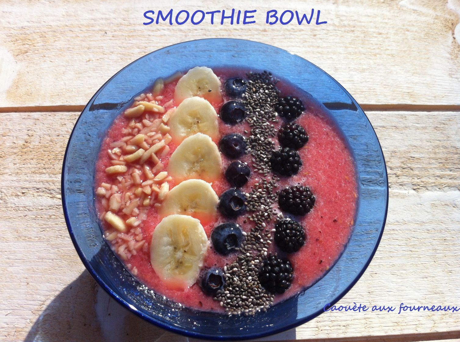 Smoothie bowl mûre-myrtille-banane