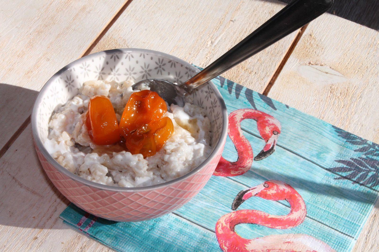 Riz au lait de coco et kumquats confits