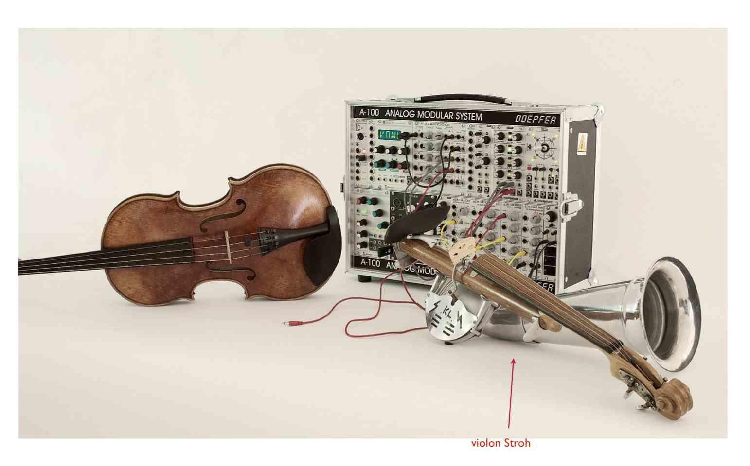 Alto, Doepfer A-100 modulaire...et violon Stroh.