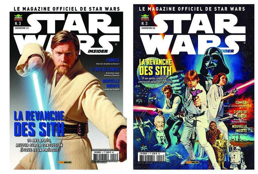 les couvertures de Star Wars insider n°3