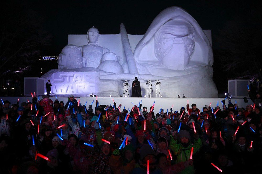 Majestueuse fresque des neiges Star Wars
