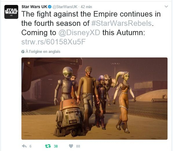La Saison 4 de Star Wars Rebels officielle