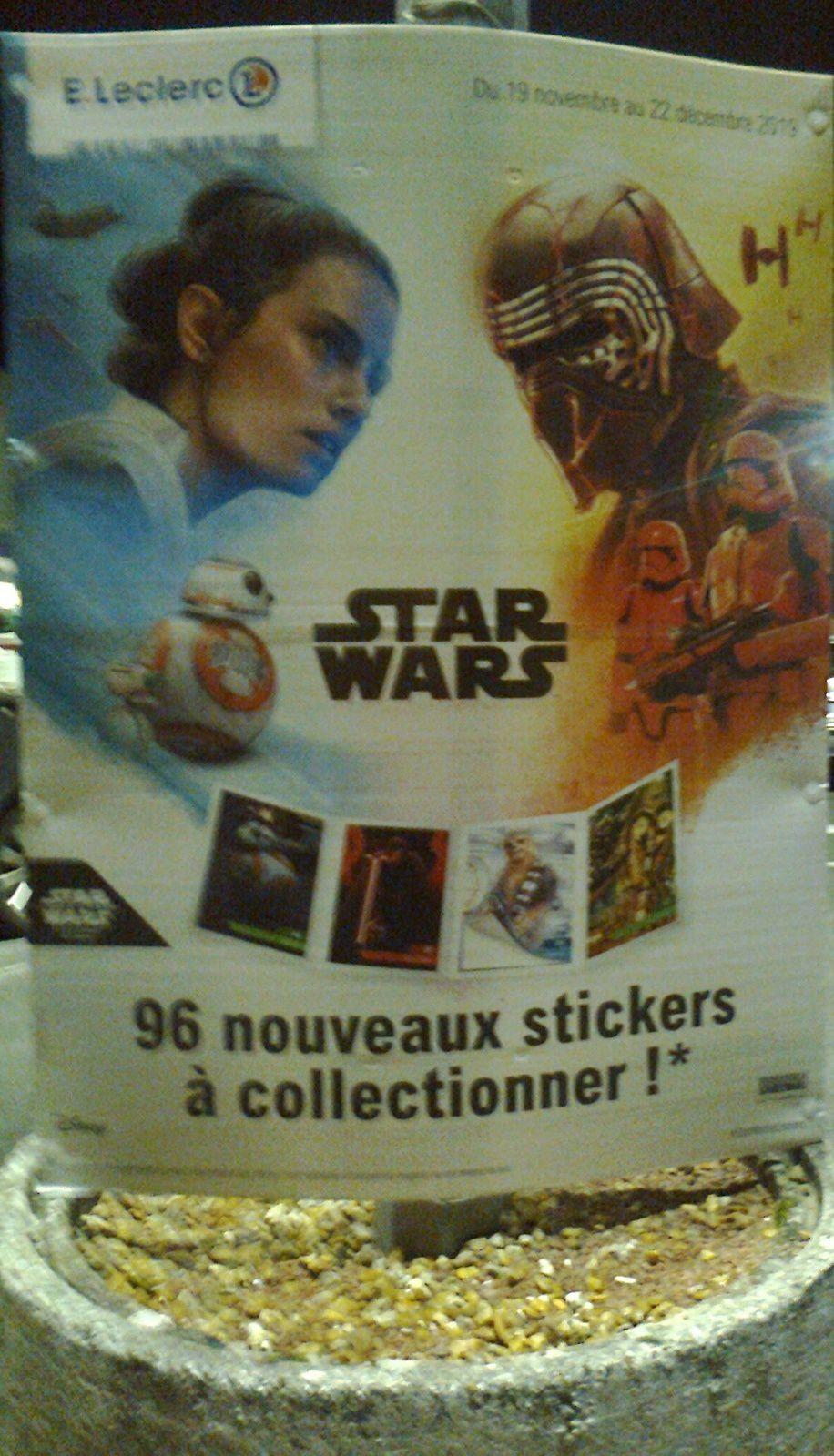 2 Cartes Star Wars Leclerc 2019  l/'ascension de skywalker au choix