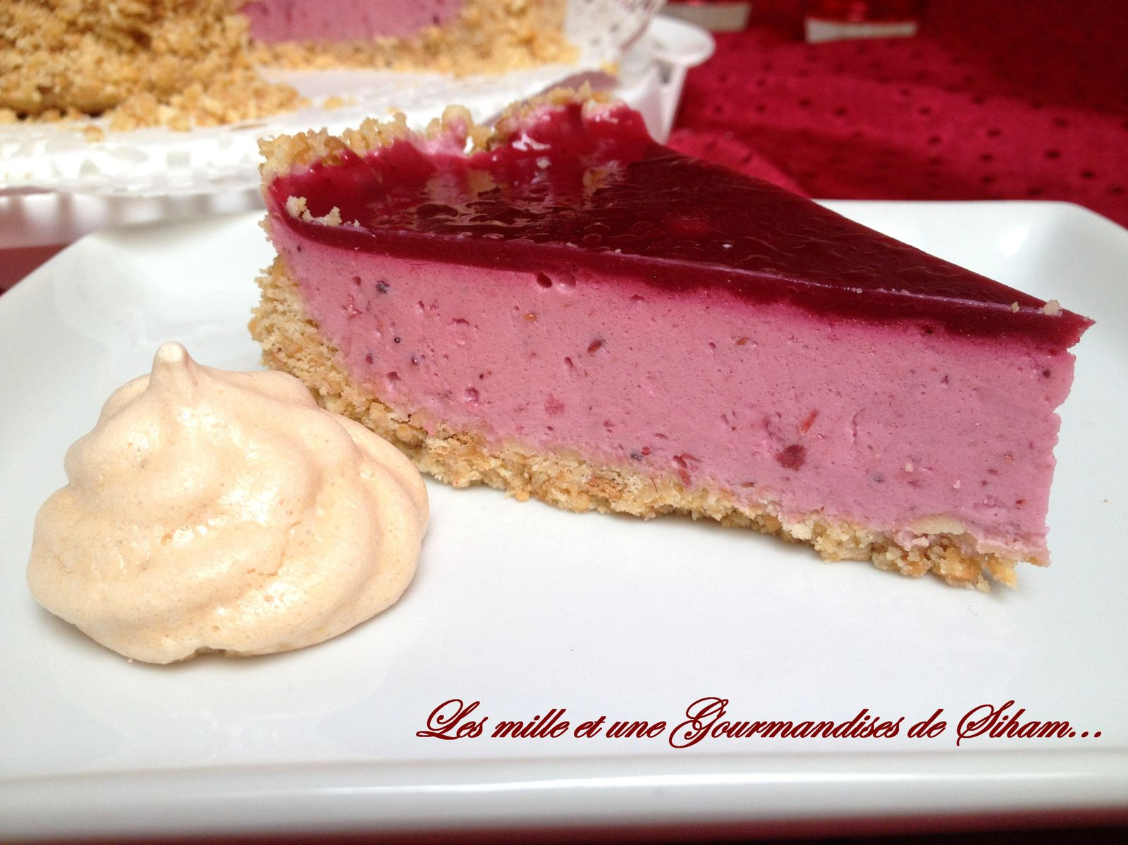 Cheesecake aux fruits rouges...
