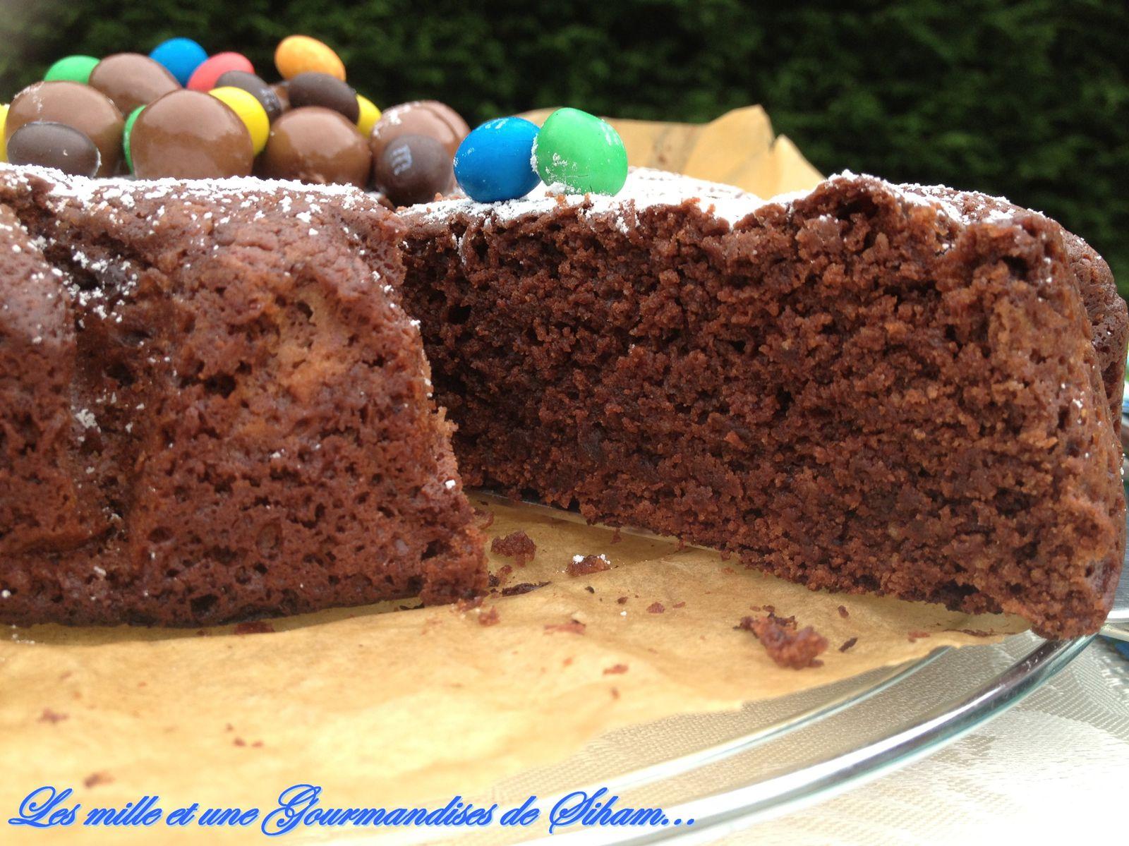 Gâteau chocolat sans oeuf !