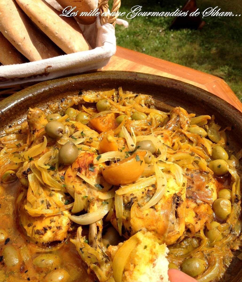 Tajine Poulet Olives et Citron Confit