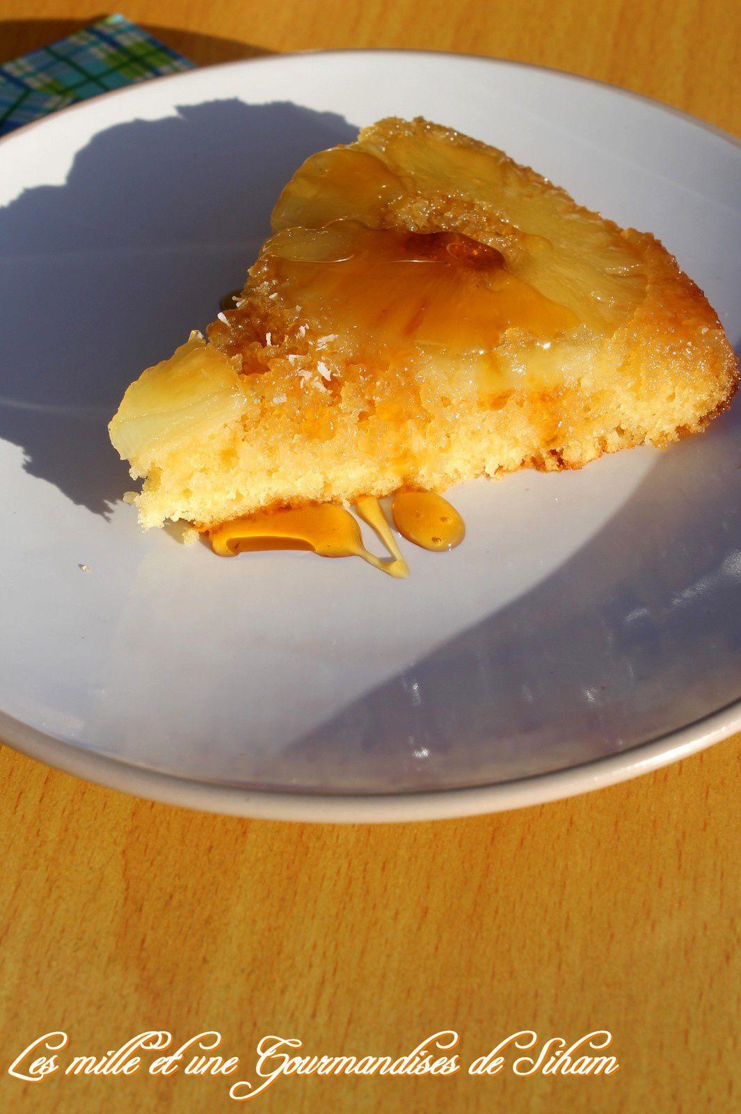 Gâteau renversé à l'ananas...