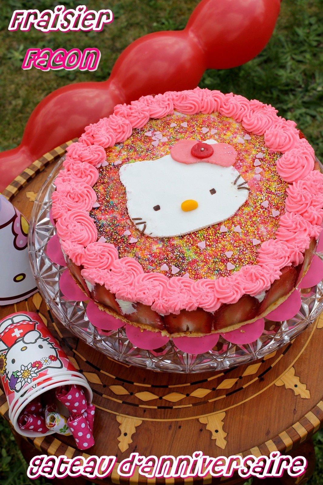 Fraisier façon Gâteau d'Anniversaire !