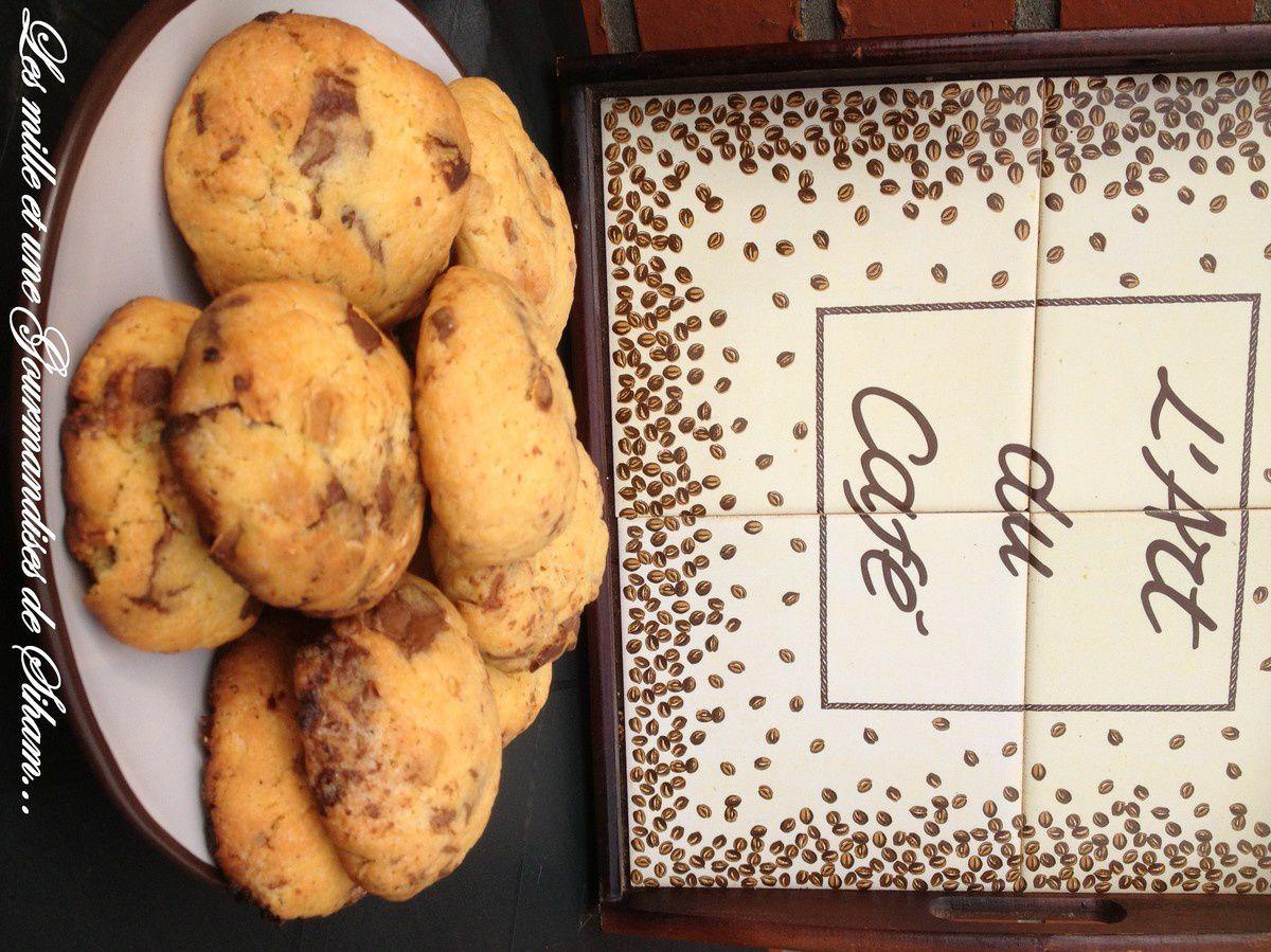 Cookies aux deux chocolats et amandes