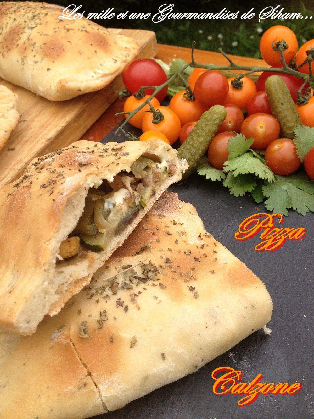 Pizza Calzone aux légumes et viande hachée