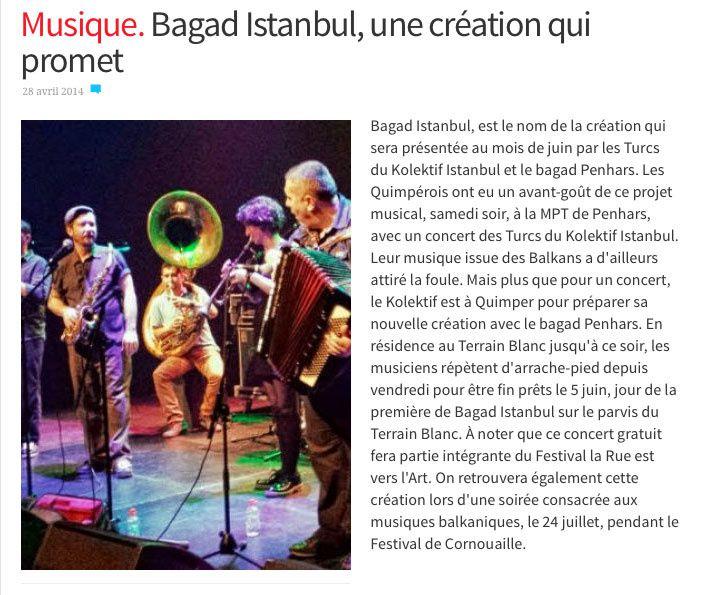 Le Télégramme Finistère 28 avril 2014