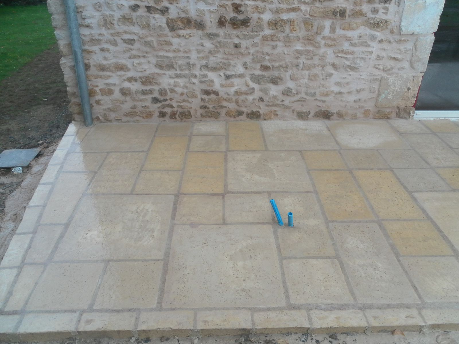 terrasse en pierre reconstitu e