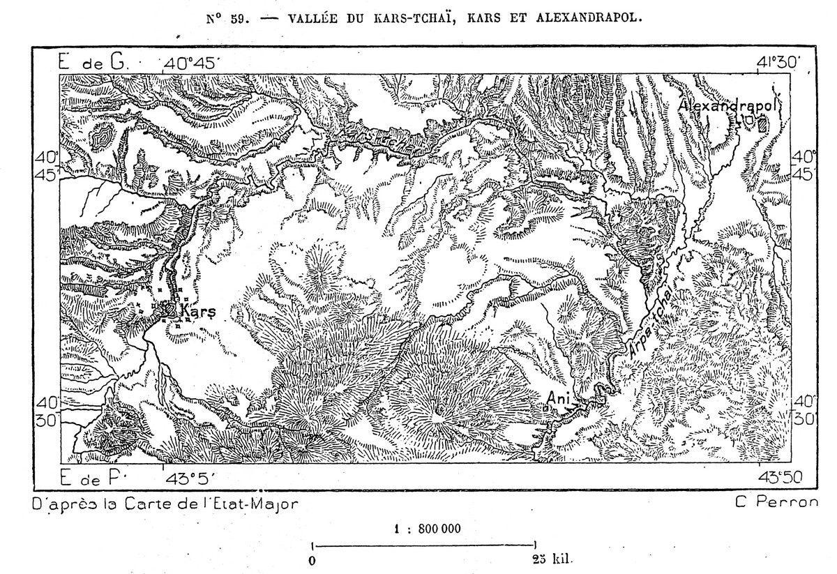 N° 59. — VALLÉE DU KARS-TCHAÏ, KARS ET ALEXANDRAPOL. D'après la Carte de l'état-major C Perron