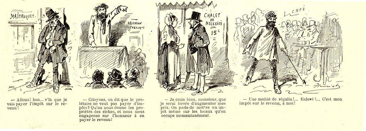 L'impôt sur le revenu vu par le Charivari en 1887 (4)