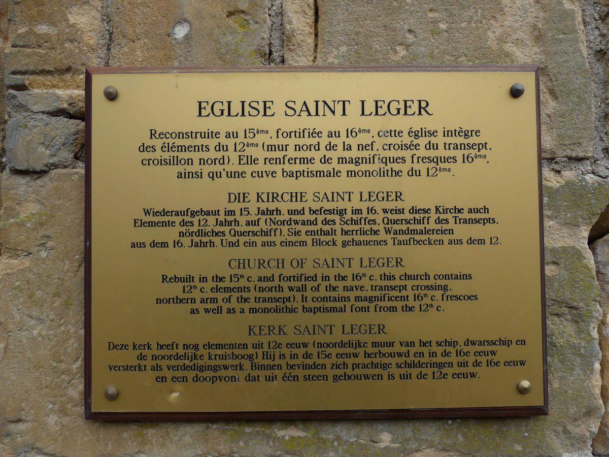 L'église fortifiée Saint-Léger à Monthermé (Ardennes)