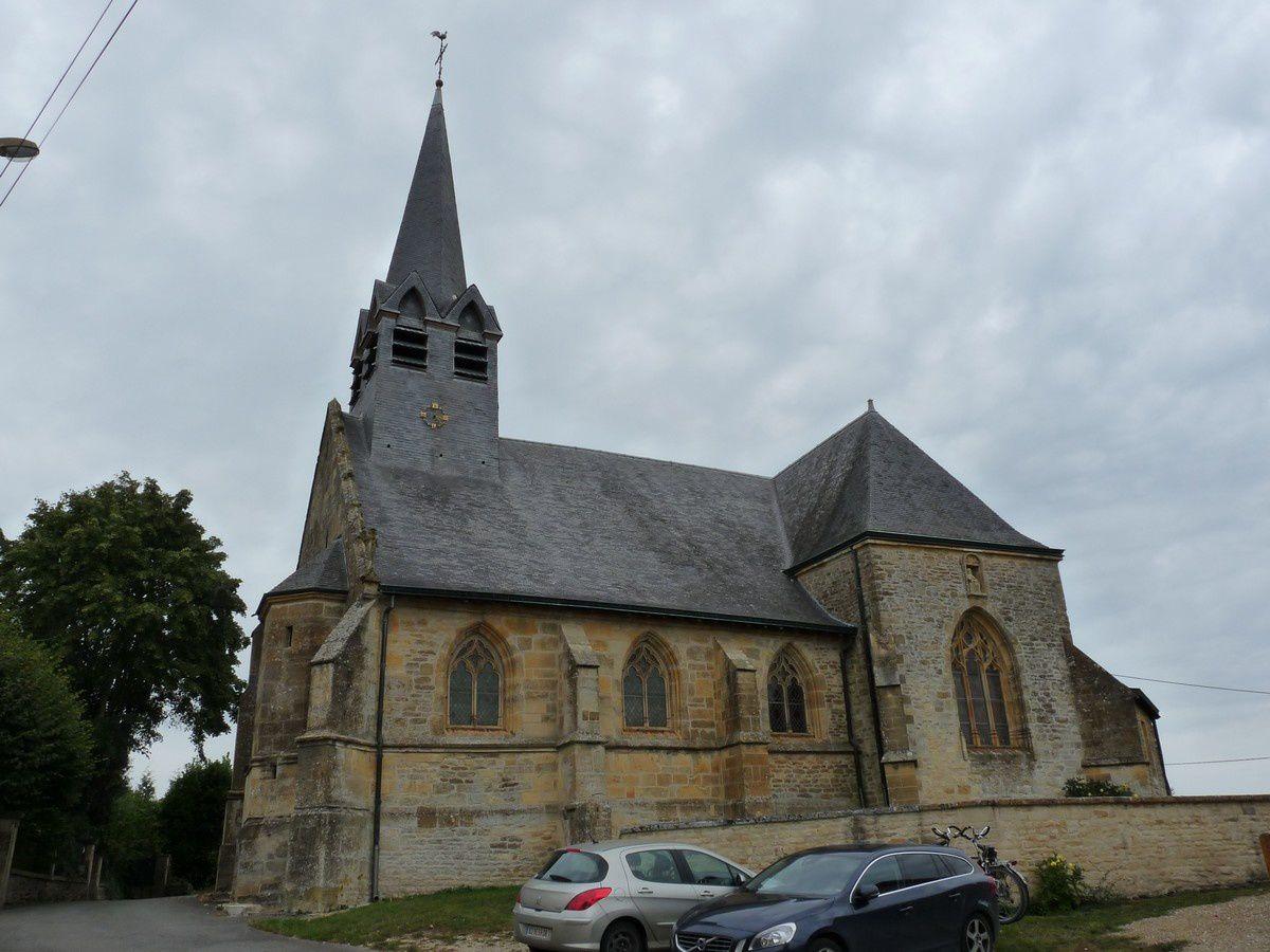 Tourteron (Ardennes) : l'église Saint-Brice (XVIème siècle)
