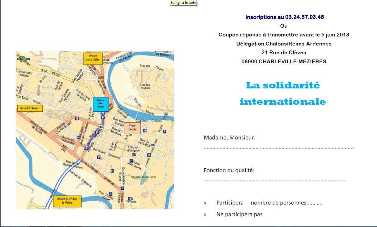 Invitation du Secours Catholique