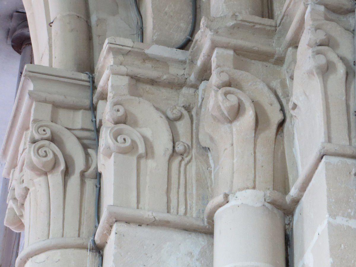 Les chapiteaux de l'église Saint-Timothée de Pauvres (Ardennes)