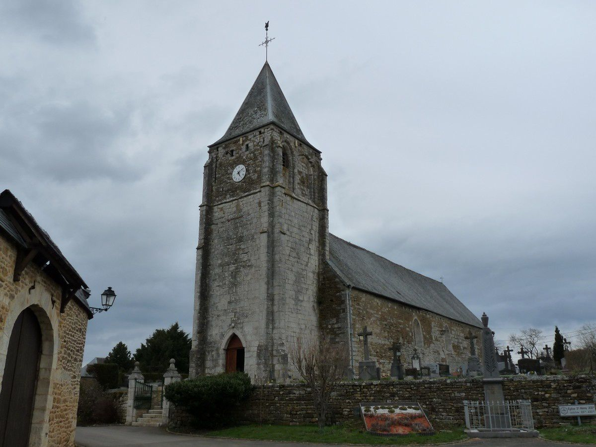 Antheny (Ardennes) : l'église Saint-Rémy