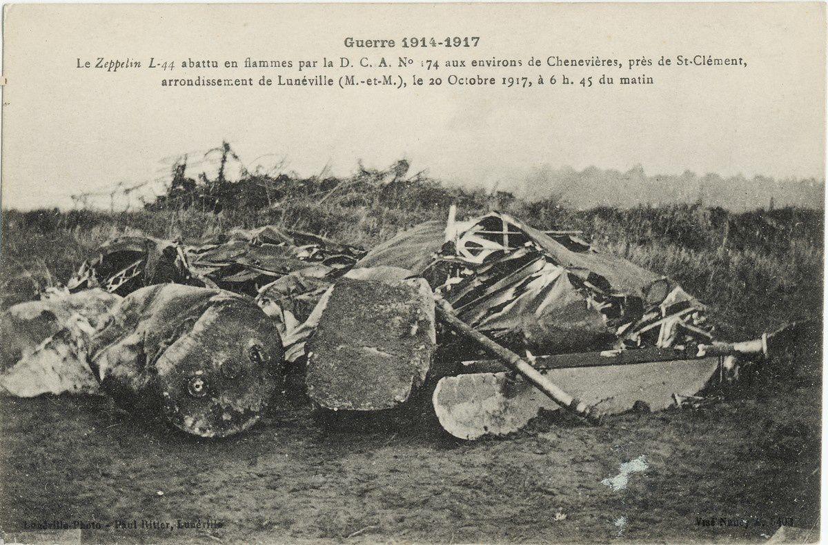Chènevières (54) : débris d'un Zeppelin