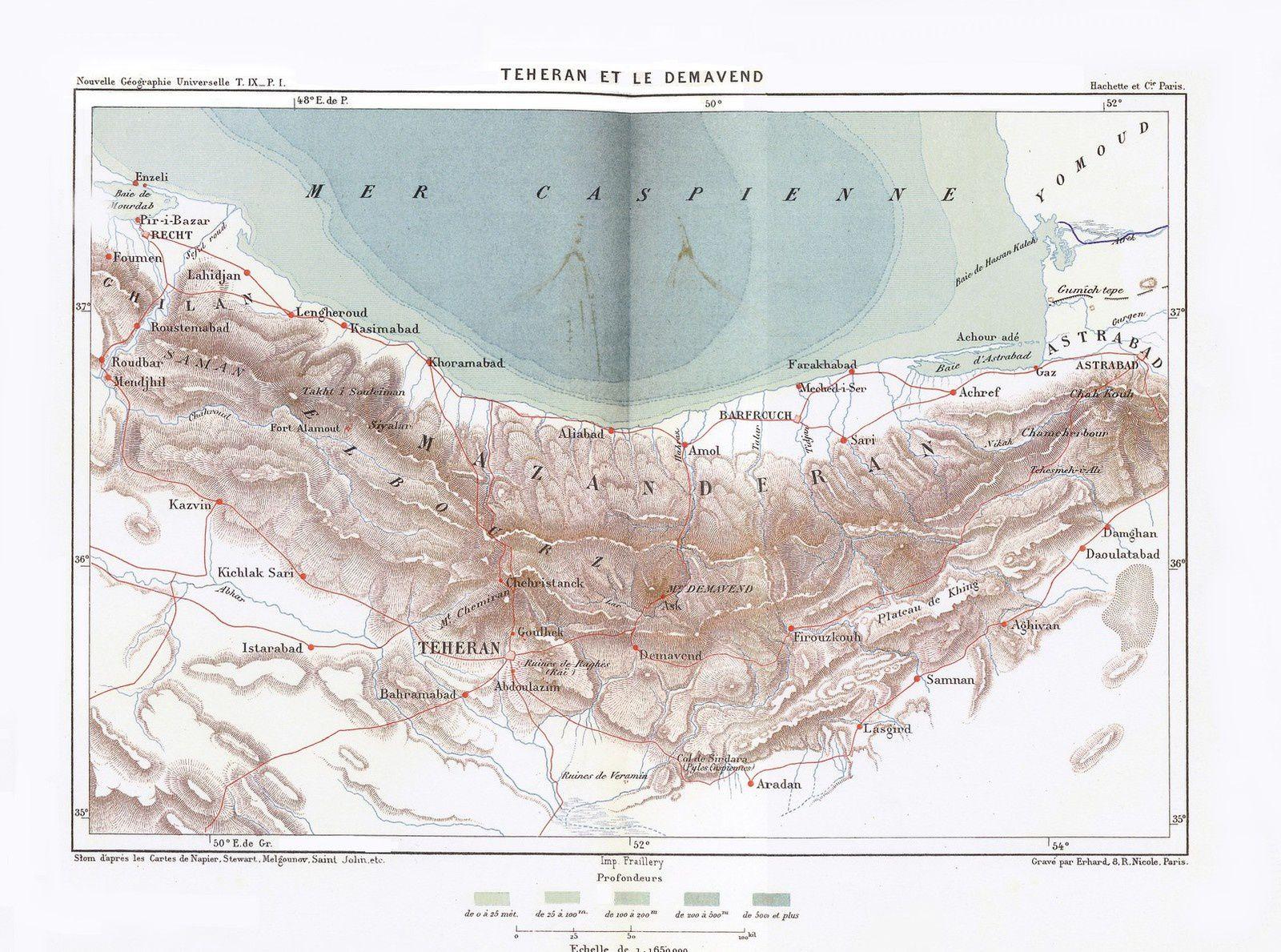 Iran : Le mont Demavend (Damavand) et la chaîne de l'Elbourz