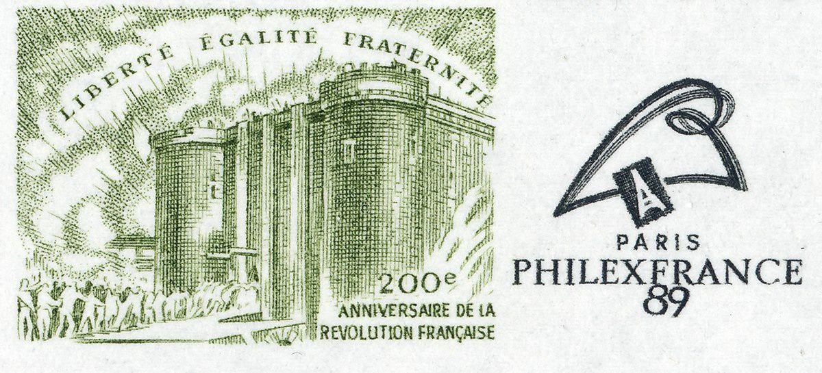 1789 : Mutinerie du Bounty et prise de la Bastille. Bloc et timbre