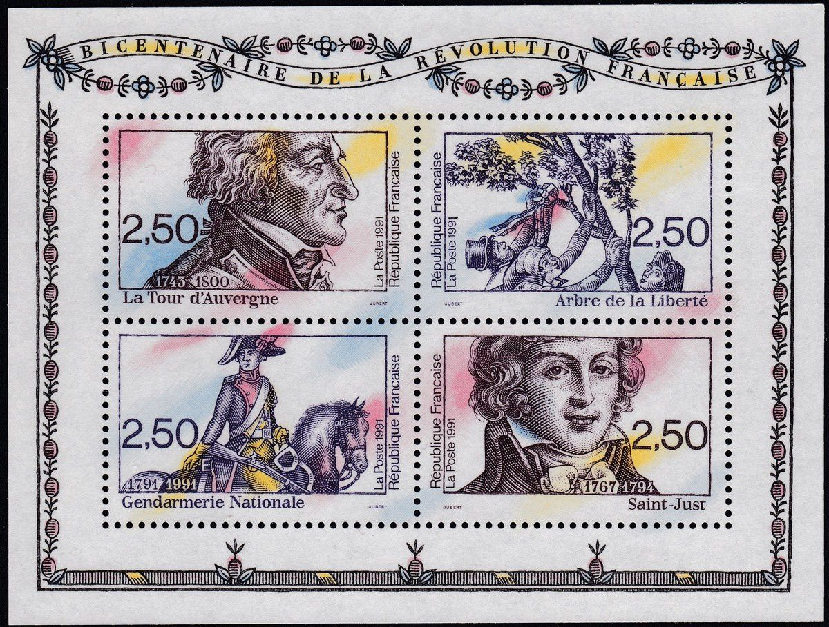 1789-1989 : collection thématique. France : Bloc 1991