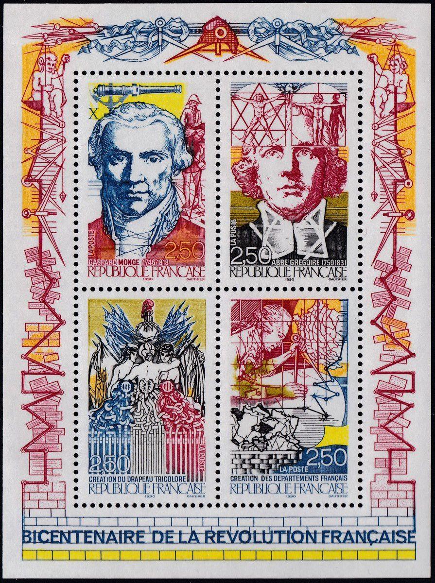 Monge, Grégoire, Drapeau tricolore, création des départements