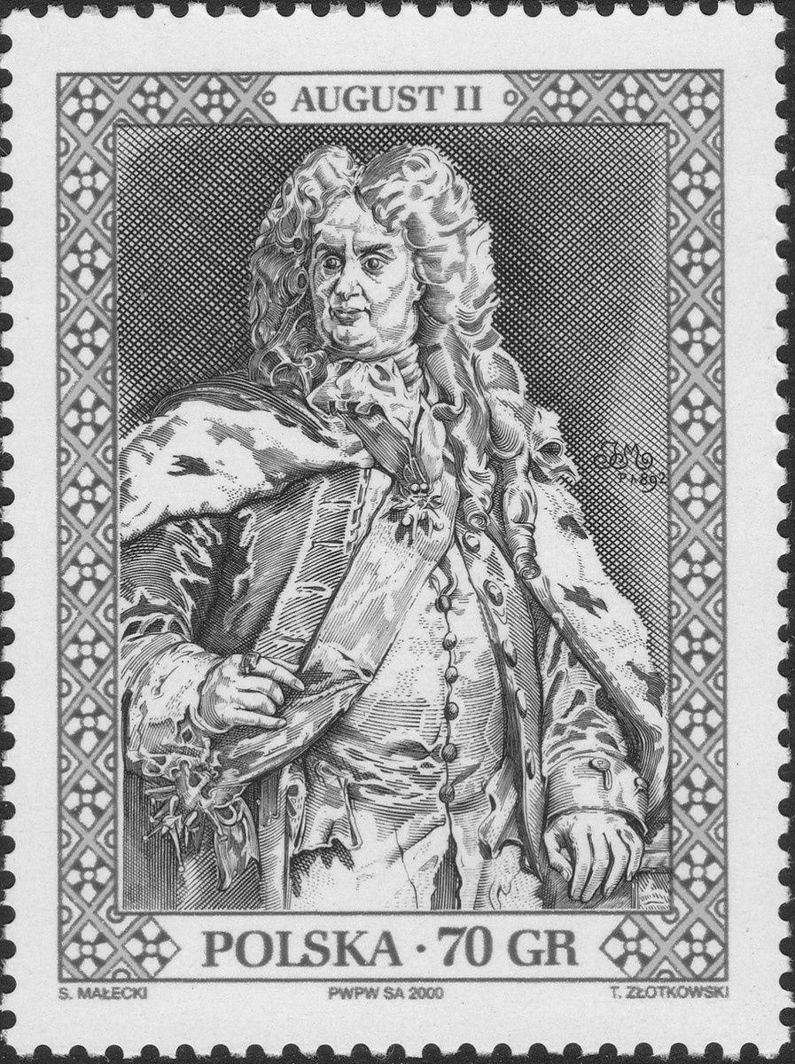 Auguste II (1670-1733), roi de Pologne de 1697 à 1704, puis de 1709 à 1733