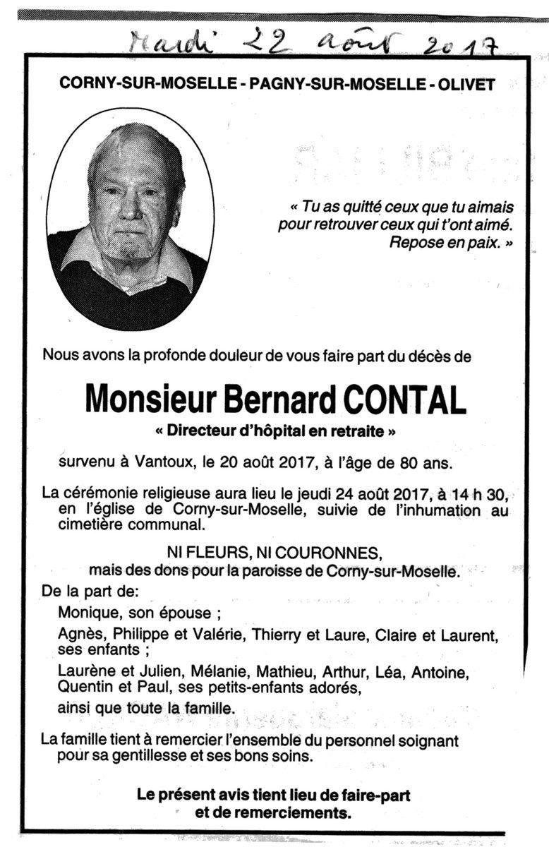 Bernard Contal 1937-2017