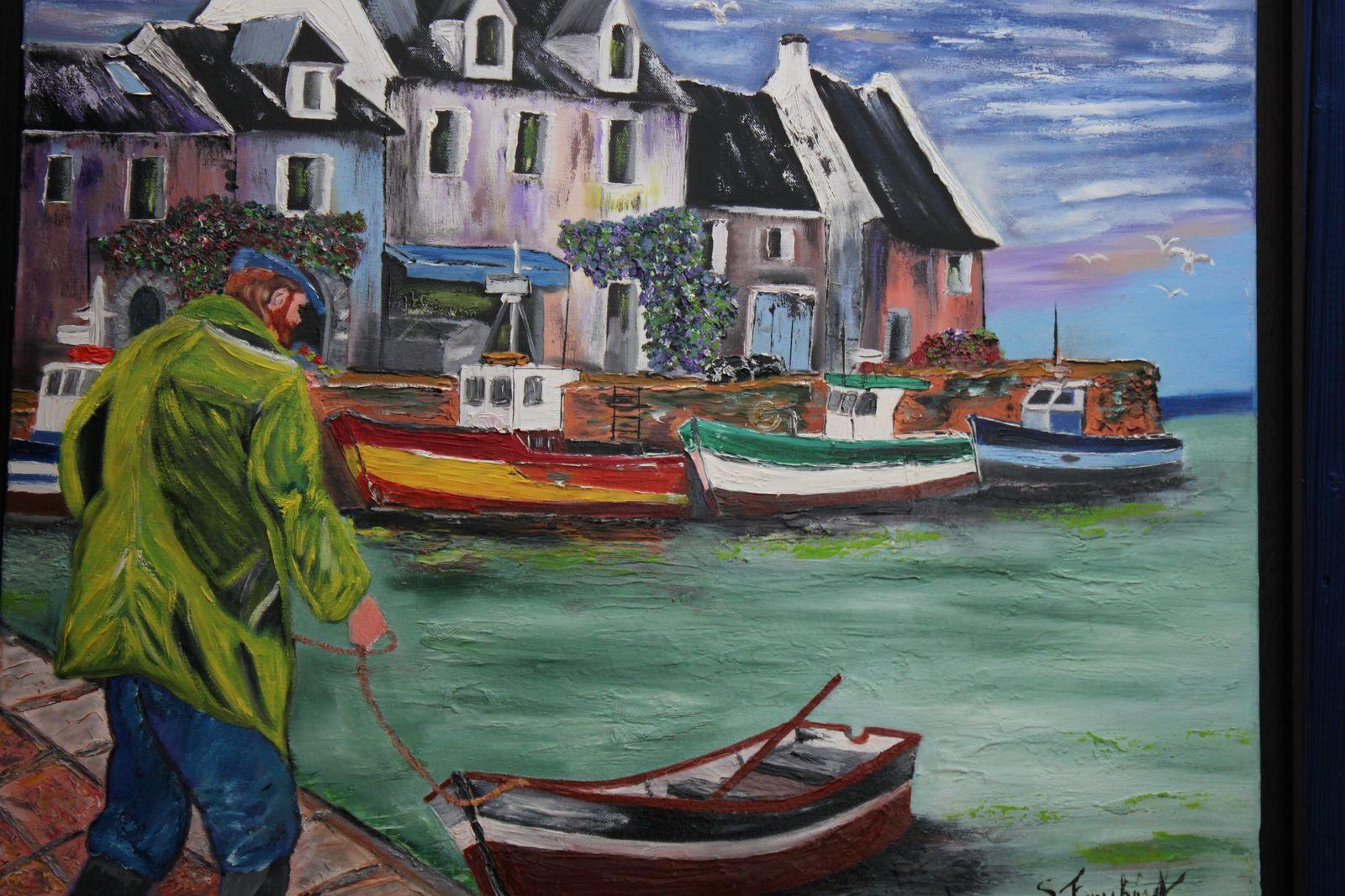 Stéphane fauchard exposait ses toiles lors du dernier salon de l'ABAP