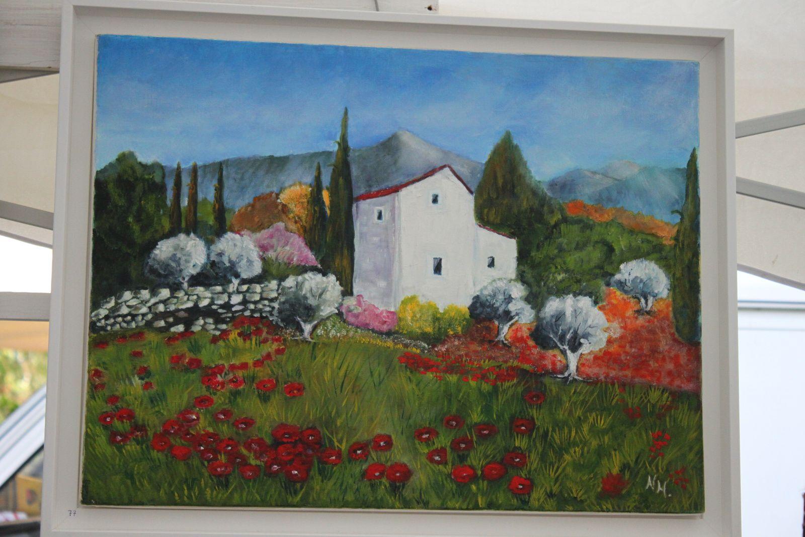 L'artiste peintre Nicole Hurtault exposera ses oeuvres le 6 Juillet