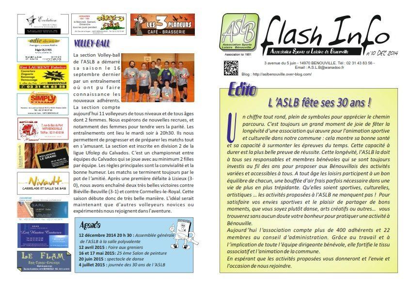 Flash Info n°10