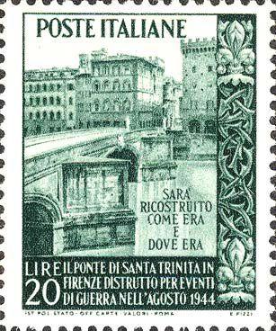 Figure 36   Pont Santa Trinità  Florence, 1949 YT 551.