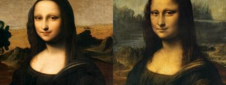 Figure 6 - Mona Lisa d'Isleworth et la Joconde du Louvre.