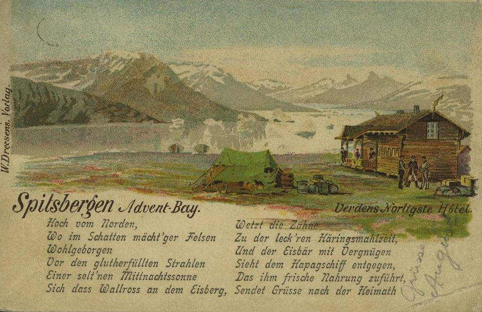 L'hôtel à Advent Bay en 1897