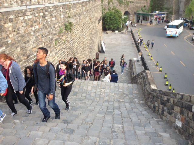 Sur les remparts de Nankin